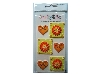 Click here for larger picture - Embellishments - Orange Hearts And Gem Flowers (P010)  £1.29