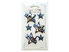Click here for larger picture - Embellishments - Silver/Blue Gingham Stars (C8AC011)  £1.29