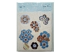 Click here for larger picture - Craft House Die Cuts - Blue Flowers - (3 Sheets) - C7DC04  £1.49
