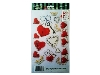 Click here for larger picture - Hearts And Keys 3D Epoxy Stickers (ESTK-TIP-3534)  £1.00