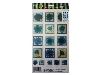 Click here for larger picture - Turquoise Flowers 2 3D Epoxy Stickers (ESTK-ROY-3523)  £1.00
