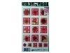 Click here for larger picture - Magenta Flowers 2 3D Epoxy Stickers (ESTK-ROY-3521)  £1.00