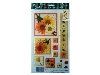 Click here for larger picture - Peaches N Cream Flowers 3D Epoxy Stickers (ESTK-ROY-3528)  £1.00