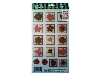 Click here for larger picture - Red Flowers 2 3D Epoxy Stickers (ESTK-ROY-3537)  £1.00