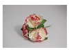 Click here for larger picture - Tea Roses X3 Burgundy/Cream  £1.79