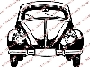 Click here for larger picture - Classic Volkswagen Beetle Clear Stamp  £4.50