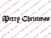 Click here for larger picture - Vintage Merry Christmas Clear Stamp  £3.00