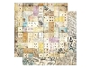 Click here for larger picture - Cest La Vie Domino 12x12 Paper (BB13801584)  £0.95