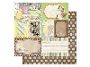 Click here for larger picture - Cest La Vie Ephemera 12x12 Paper  (BB13801586)  £0.95