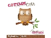 Click here for larger picture - CottageCutz Dies - Stylizesd Owl  £14.99
