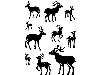 Click here for larger picture - Cling Stamp Set - Deer Friends (CDCCSTDEE-01)  £8.99