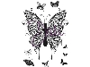 Click here for larger picture - Henna Butterflies - A6 Clear Stamp (DLCSA6001) £5.49