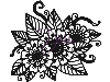 Click here for larger picture - Henna Floral - A6 Clear Stamp (DLCSA6012) £5.49