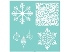 Click here for larger picture - 12 x 12 Template - Festive Quarters (KAT624) £7.99