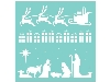 Click here for larger picture - 12 x 12 Template - Christmas Strip (KAT626) £7.99