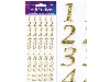 Click here for larger picture - Eleganza Stylised Number Set Gold No.65 (OA025896) £0.95