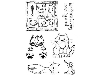Click here for larger picture - Lindsay Mason Cats - Set 2 - Clear Stamp (PICS051) £5.99