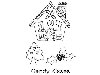 Click here for larger picture - Jill Taylor Candy Town Cane Kisses - Clear Stamp (PICSA6374) £4.95