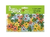 Click here for larger picture - Flora Doodles Jeweled Florettes - Gold, Peach, Blue And Green (1350-170)  £3.49