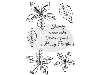 Click here for larger picture - Family Poinsettias Clear Stamp (SDCSA6013) £4.29