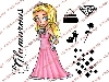 Click here for larger picture - Elegant Emma Clear Stamp Set  £11.99
