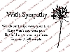 Click here for larger picture - With Sympathy Clear Stamp Set  £8.99