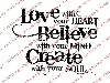 Click here for larger picture - Create With Your Soul Clear Stamp  £6.00