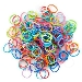 Click here for larger picture - 600 Pcs Mixed Colour Rubber Bands + 25 Clips + 1 Hook  £3.99